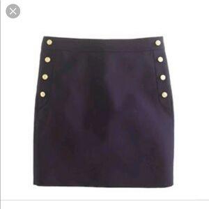 J crew navy blue sailor skirt size 00